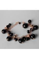 Bracciale charms agata nera