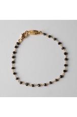 Bracciale uomo, rosario spinello nero