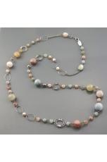 Chanel acquamarina multicolor, perle di fiume