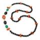 Chanel agata nera, corallo rosso,agata verde smeraldo