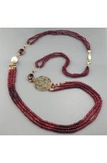 Chanel agata ruby, perle di fiume