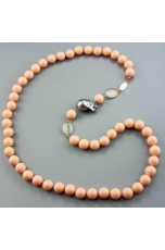 Chanel Bamboo rosa, perla barocca Grigia