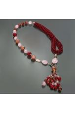 Chanel Giada ruby,giada floreale, quarzo rosa