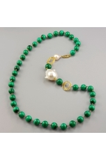 Chanel Malachite 10 mm perle barocche