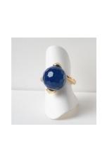 Anello agata blu zaffiro