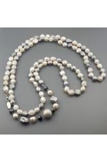 Charleston perle di fiume  bianche e grigie