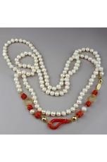 Charleston perle di fiume, corallo rosso