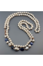 Charleston perle di fiume, quarzi blue light